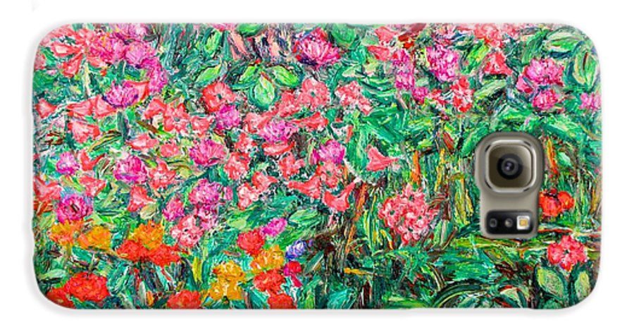 Kendall Kessler Galaxy S6 Case featuring the painting Radford Flower Garden by Kendall Kessler