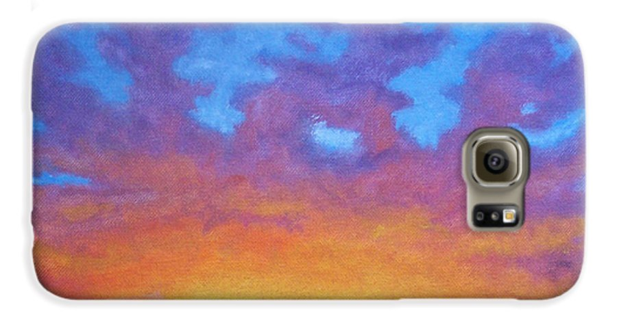 Landscape Galaxy S6 Case featuring the painting Radiance by Brian Commerford