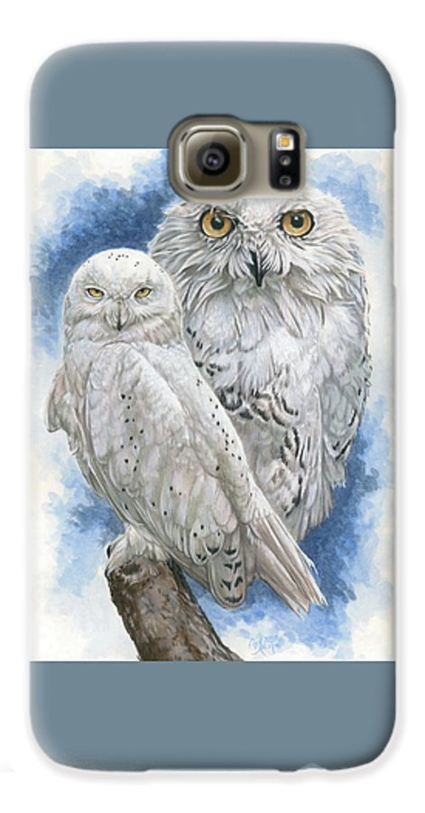 Snowy Owl Galaxy S6 Case featuring the mixed media Radiant by Barbara Keith