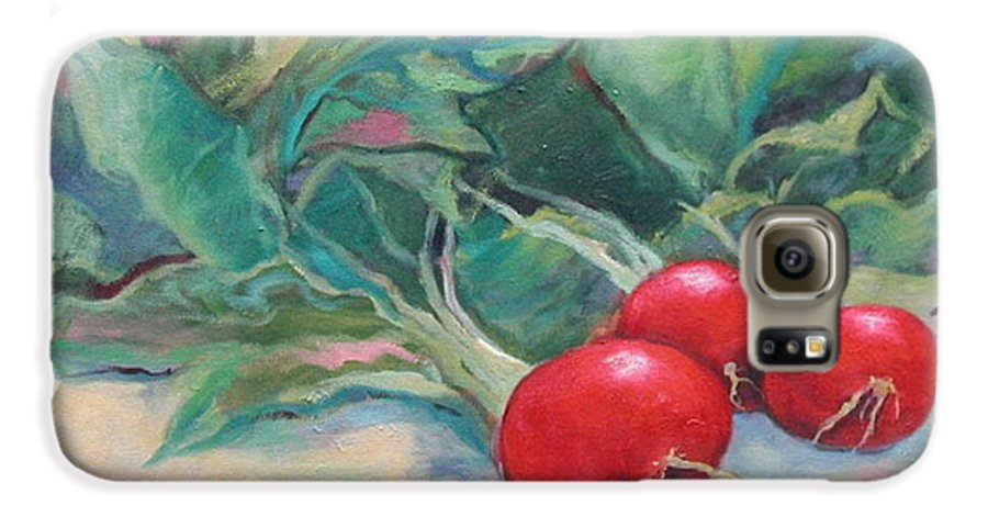 Radishes Galaxy S6 Case featuring the painting Radishes by Ginger Concepcion