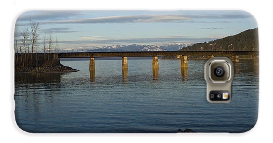 Bridge Galaxy S6 Case featuring the photograph Railroad Bridge Over The Pend Oreille by Idaho Scenic Images Linda Lantzy