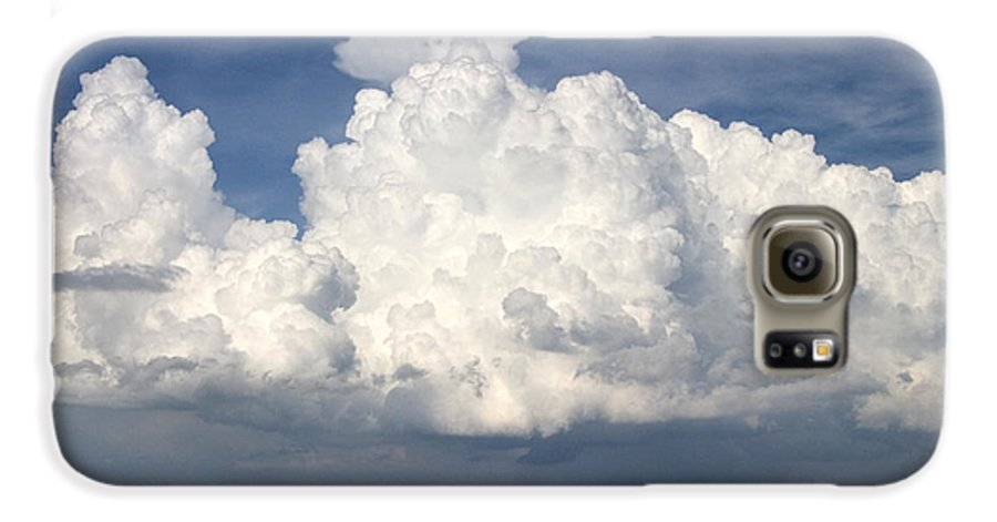 Clouds Galaxy S6 Case featuring the photograph Rain Clouds Over Lake Apopka by Carl Purcell