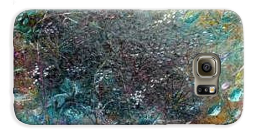 Original Abstract Painting Of Under The Sea Galaxy S6 Case featuring the painting Rainbow Reef by Karin Dawn Kelshall- Best