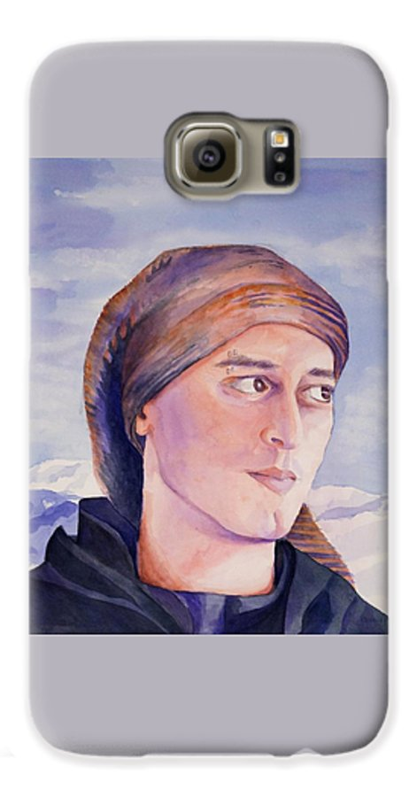 Man In Ski Cap Galaxy S6 Case featuring the painting Ram by Judy Swerlick
