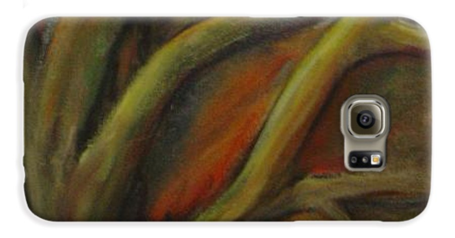 Tree Abstract Painting Expressionist Original Leila Atkinson Galaxy S6 Case featuring the painting Rapt by Leila Atkinson