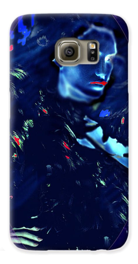 A Bizarre Evil Witch Flies With The Ravens Galaxy S6 Case featuring the digital art Raven Woman by Seth Weaver