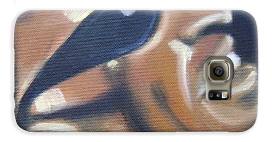 Ray Charles Galaxy S6 Case featuring the painting Ray Charles by Toni Berry