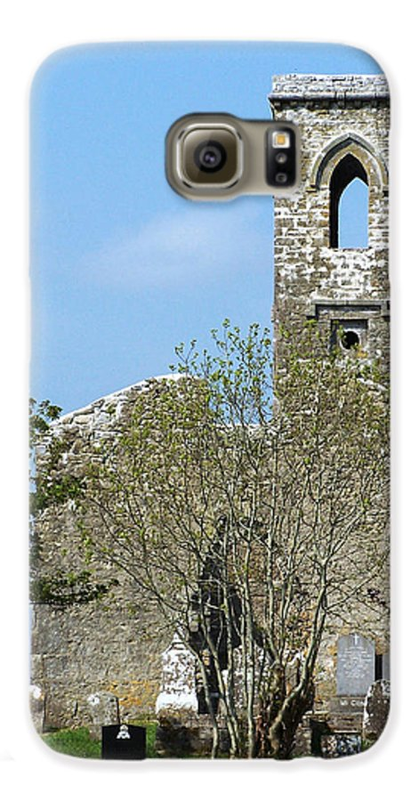 Fuerty Galaxy S6 Case featuring the photograph Rear View Fuerty Church And Cemetery Roscommon Ireland by Teresa Mucha