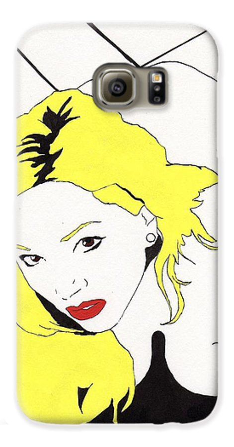 Nude Portrait Female Galaxy S6 Case featuring the drawing Rear Window by Stephen Panoushek