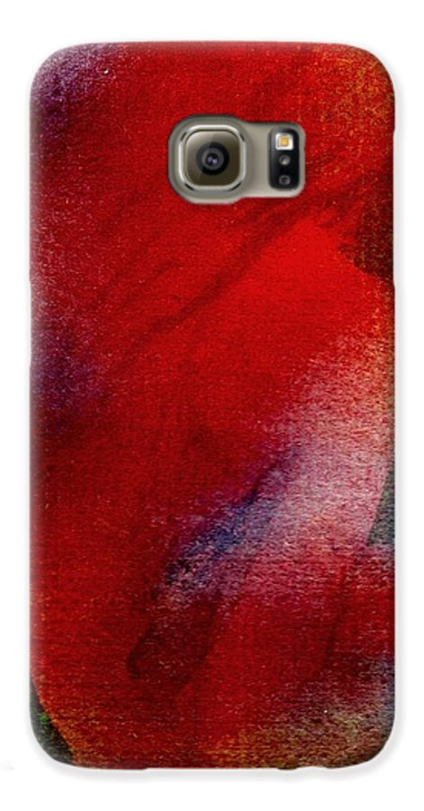 Nude Galaxy S6 Case featuring the painting Red Boudoir by Susan Kubes