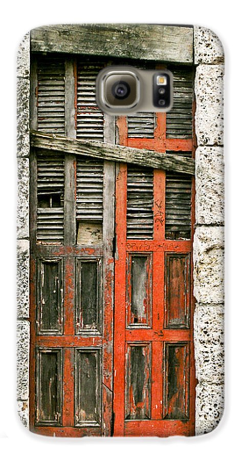 Door Galaxy S6 Case featuring the photograph Red Door by Douglas Barnett