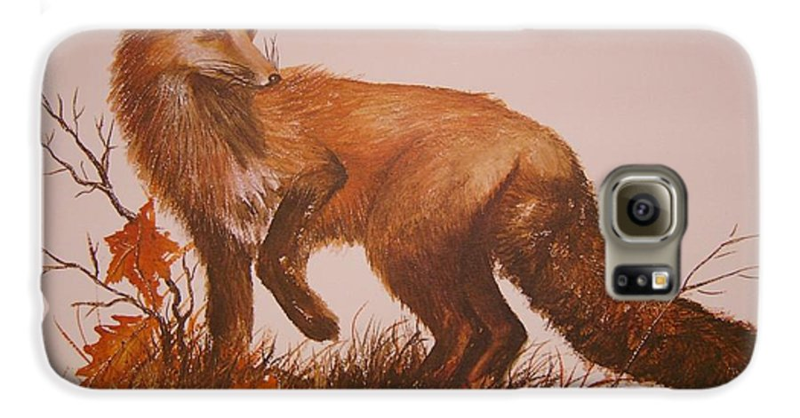 Nature Galaxy S6 Case featuring the painting Red Fox by Ben Kiger