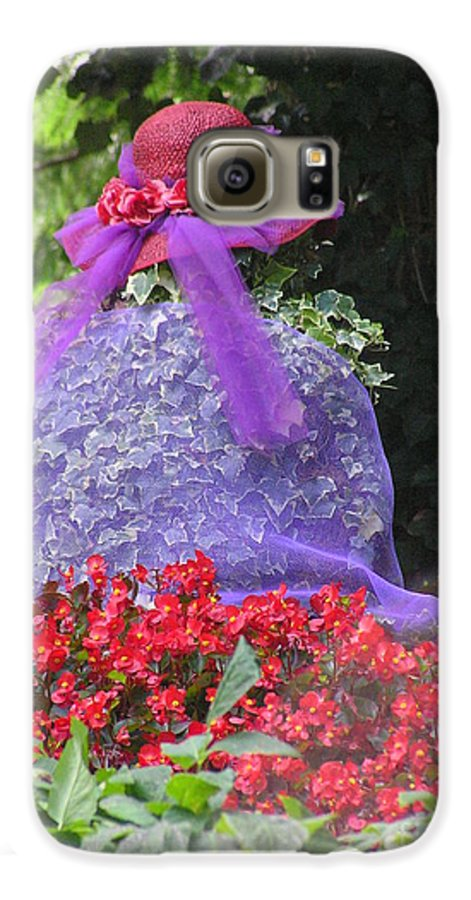 Red Hat Galaxy S6 Case featuring the photograph Red Hat Veil by Louise Magno