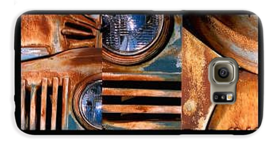 Abstract Photo Of Chevy Truck Galaxy S6 Case featuring the photograph Red Head On by Steve Karol