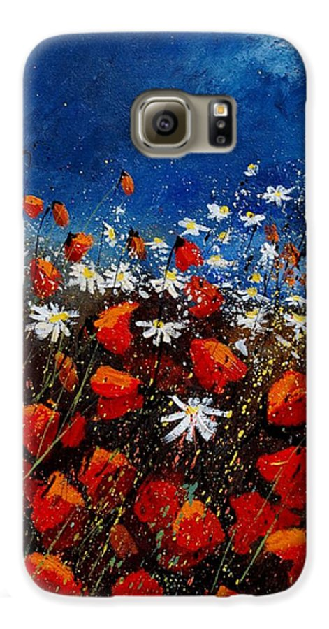 Flowers Galaxy S6 Case featuring the painting Red Poppies 451108 by Pol Ledent