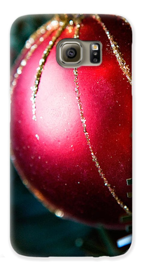 Red Galaxy S6 Case featuring the photograph Red Shiny Ornament by Marilyn Hunt