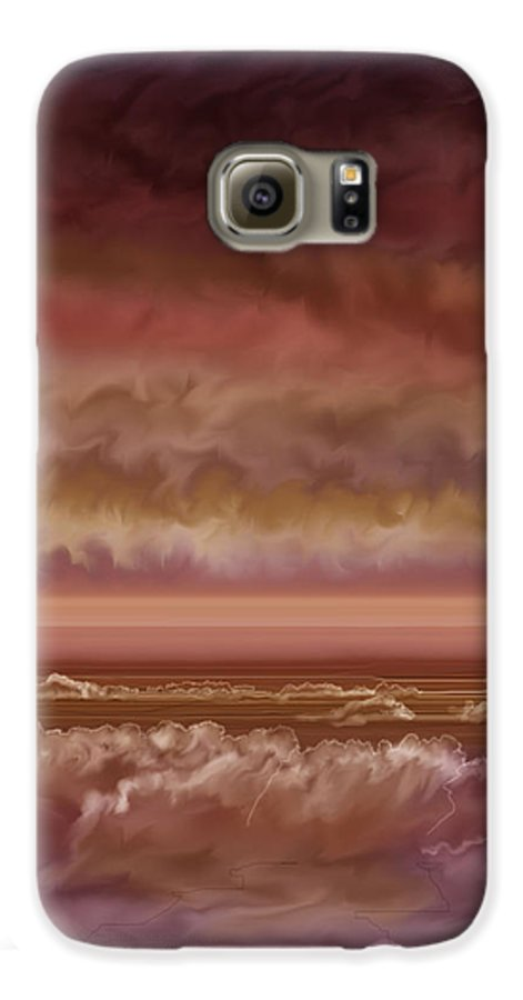 Sunset Galaxy S6 Case featuring the painting Red Sky At Night Sailor Delight by Anne Norskog
