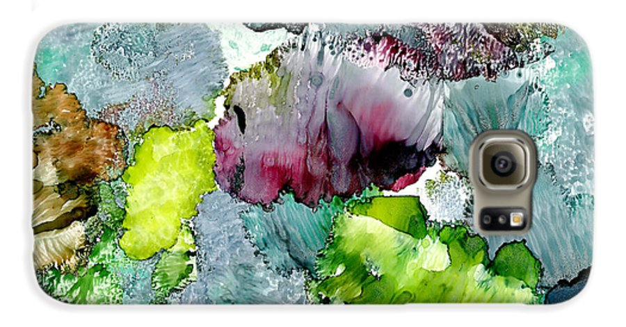 Reef Galaxy S6 Case featuring the painting Reef 4 by Susan Kubes
