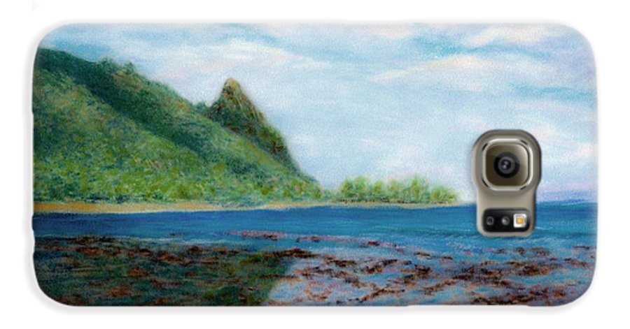 Rainbow Colors Pastel Galaxy S6 Case featuring the painting Reef Walk by Kenneth Grzesik