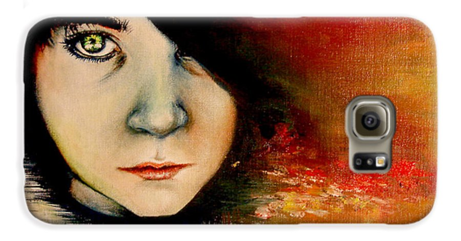 Sunset Galaxy S6 Case featuring the painting Regaining Strenght by Freja Friborg
