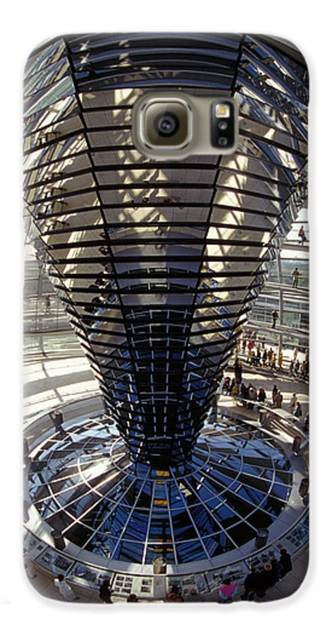 Glass Galaxy S6 Case featuring the photograph Reichstag In Berlin by Carl Purcell