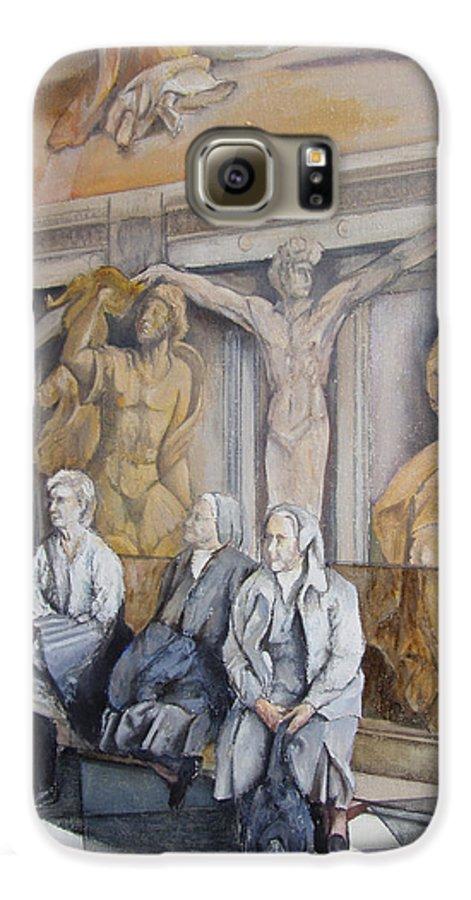 Vaticano Galaxy S6 Case featuring the painting Reposo En El Vaticano by Tomas Castano