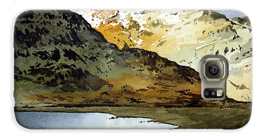 Watercolour Landscape Of Scottish Mountains Galaxy S6 Case featuring the painting Rest And Be Thankful Pass by Paul Dene Marlor