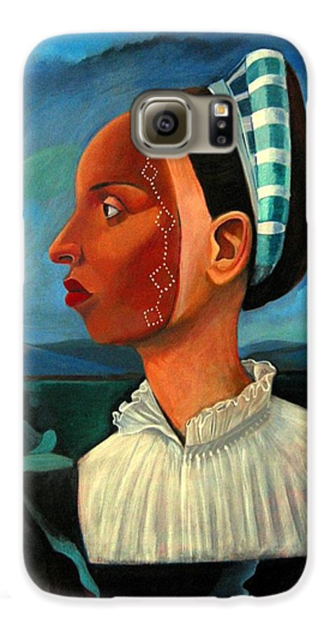 Woman Galaxy S6 Case featuring the painting Revealed Truths And Myths IIi by Joyce Owens