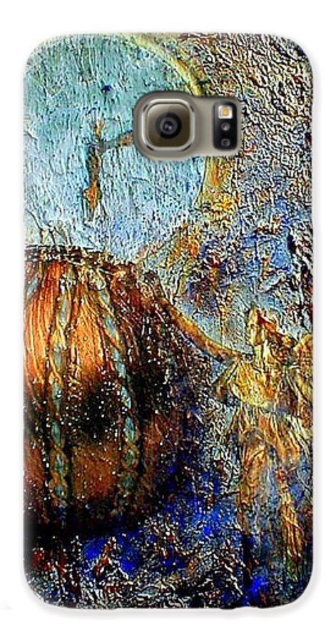 Christian Galaxy S6 Case featuring the mixed media Revelation by Gail Kirtz