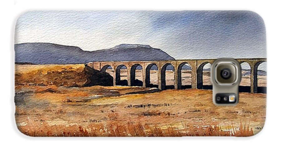 Landscape Galaxy S6 Case featuring the painting Ribblehead Viaduct by Paul Dene Marlor