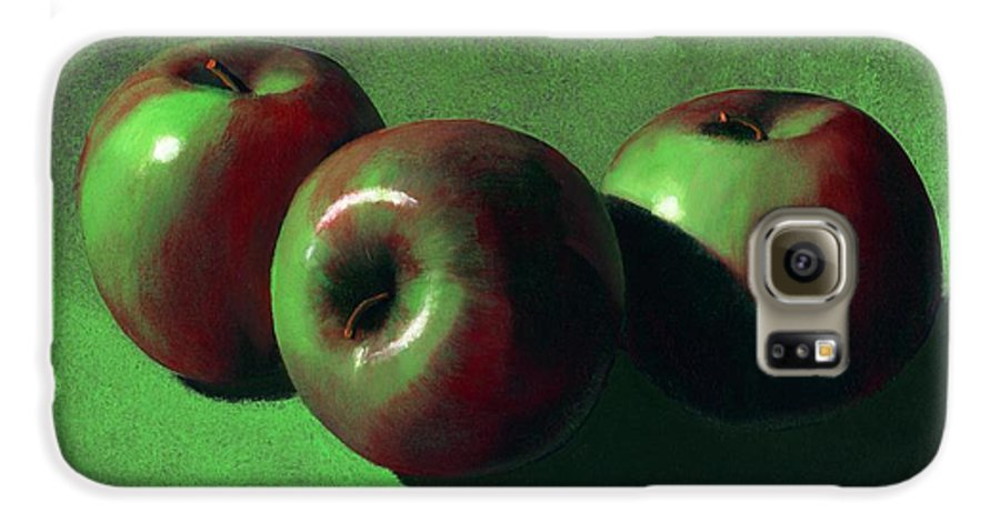 Still Life Galaxy S6 Case featuring the painting Ripe Apples by Frank Wilson