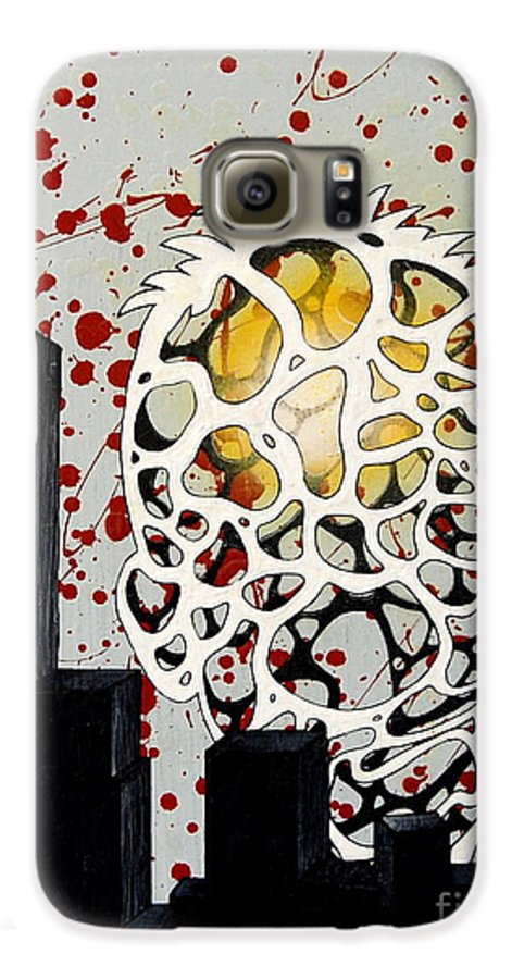 Energy Galaxy S6 Case featuring the painting Rise by A 2 H D