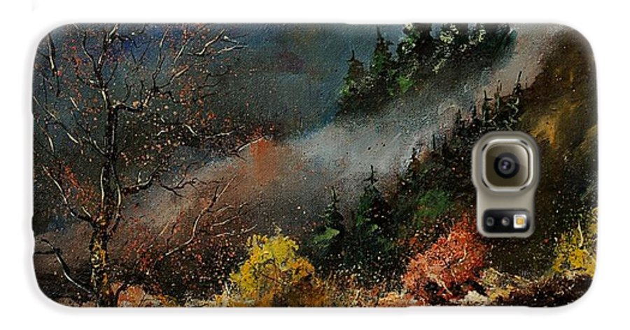 River Galaxy S6 Case featuring the painting River Semois by Pol Ledent