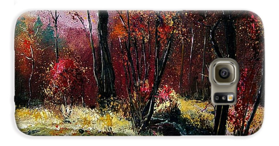 River Galaxy S6 Case featuring the painting River Ywoigne by Pol Ledent