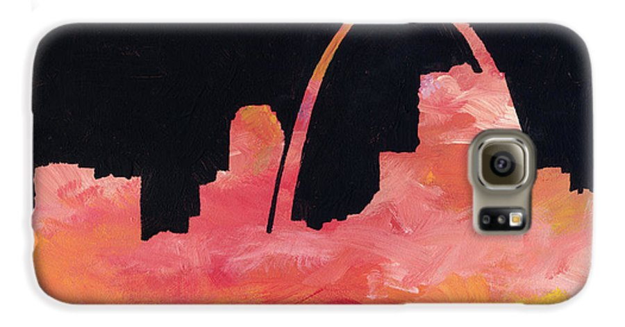 Cityscape Galaxy S6 Case featuring the painting Riverfront by Joseph A Langley