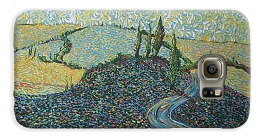 Landscape Galaxy S6 Case featuring the painting Road To Tuscany by Stefan Duncan