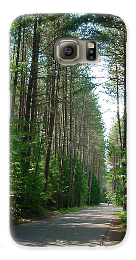 Fish Creek Galaxy S6 Case featuring the photograph Roadway At Fish Creek by Jerrold Carton