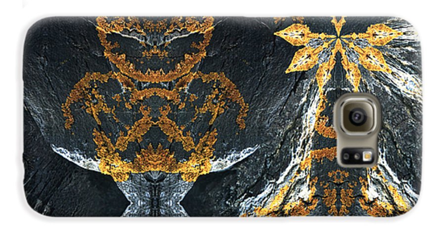 Rocks Galaxy S6 Case featuring the digital art Rock Gods Lichen Lady And Lords by Nancy Griswold