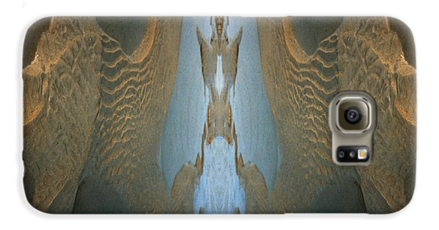 Rocks Galaxy S6 Case featuring the photograph Rock Gods Seabird Of Old Orchard by Nancy Griswold