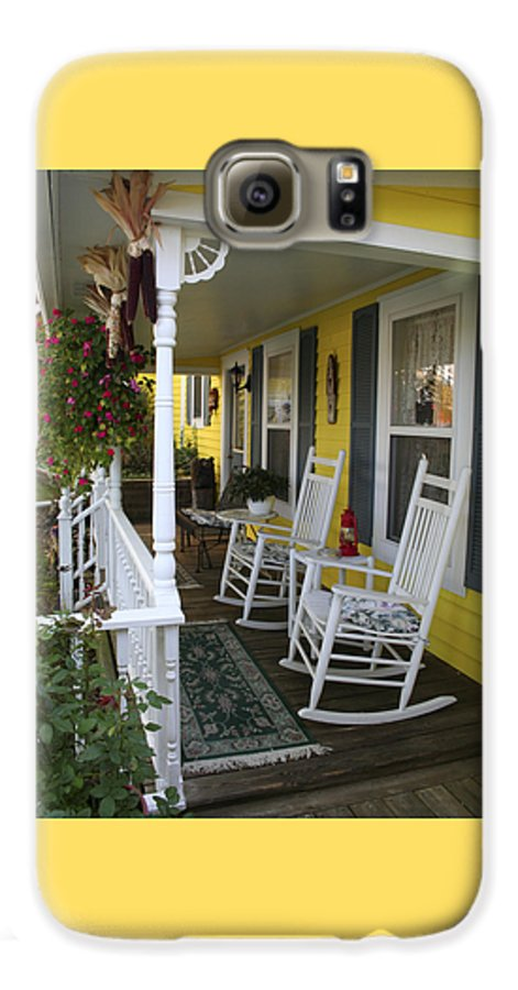 Rocking Chair Galaxy S6 Case featuring the photograph Rockers On The Porch by Margie Wildblood