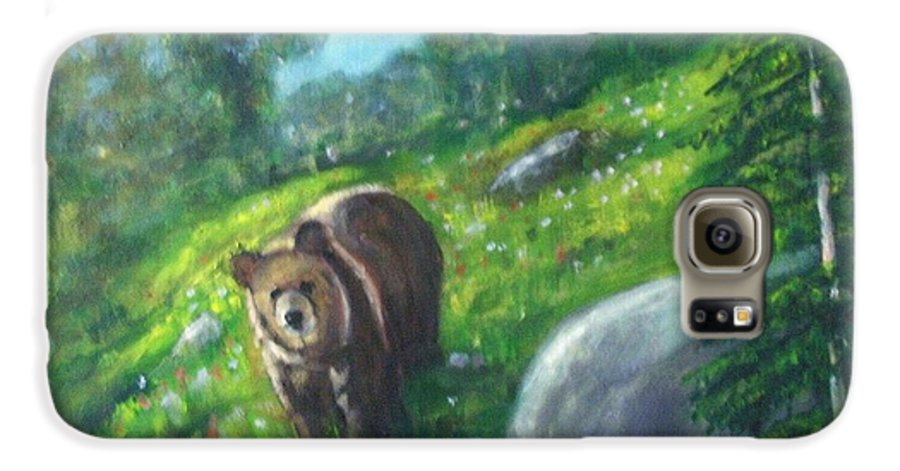 Wildlife Galaxy S6 Case featuring the painting Rocky Mountain Spring by Darla Joy Johnson