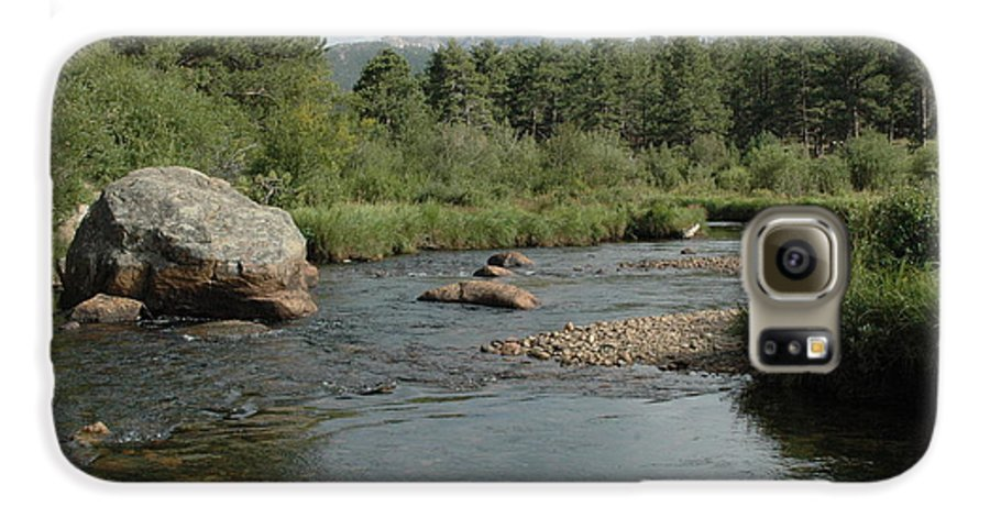 Nature Galaxy S6 Case featuring the photograph Rocky Mountain Stream by Kathy Schumann