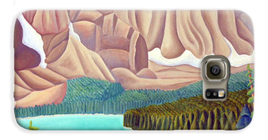 Landscape Galaxy S6 Case featuring the painting Rocky Mountain View 3 by Lynn Soehner