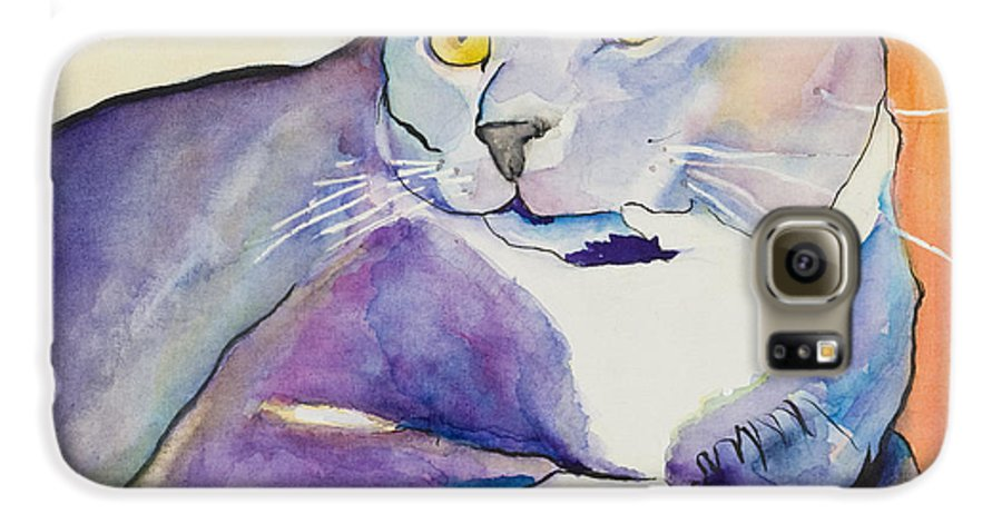 Pat Saunders-white Galaxy S6 Case featuring the painting Rocky by Pat Saunders-White