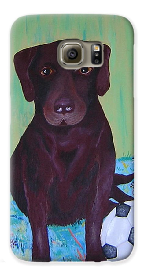Dog Galaxy S6 Case featuring the painting Rocky by Valerie Josi