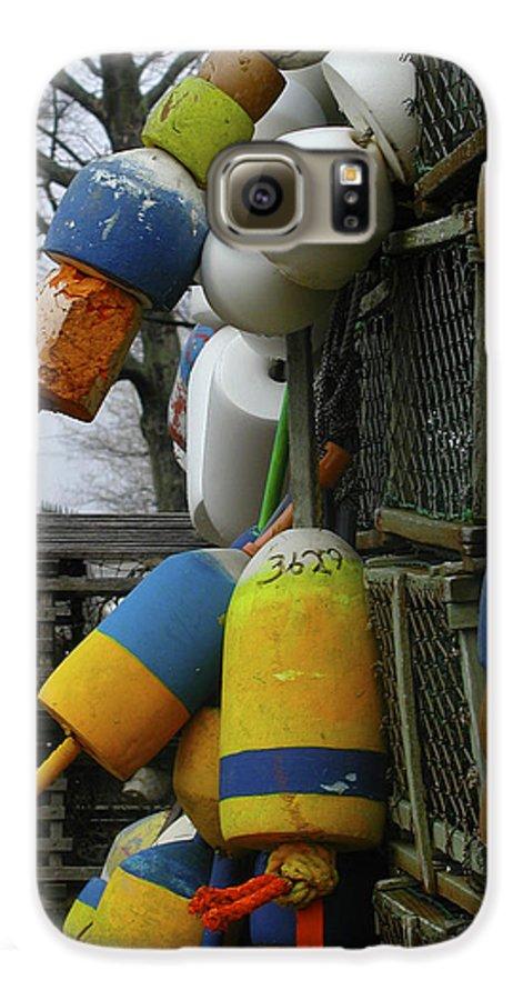 Lobster Galaxy S6 Case featuring the photograph Roger's Buoys by Faith Harron Boudreau