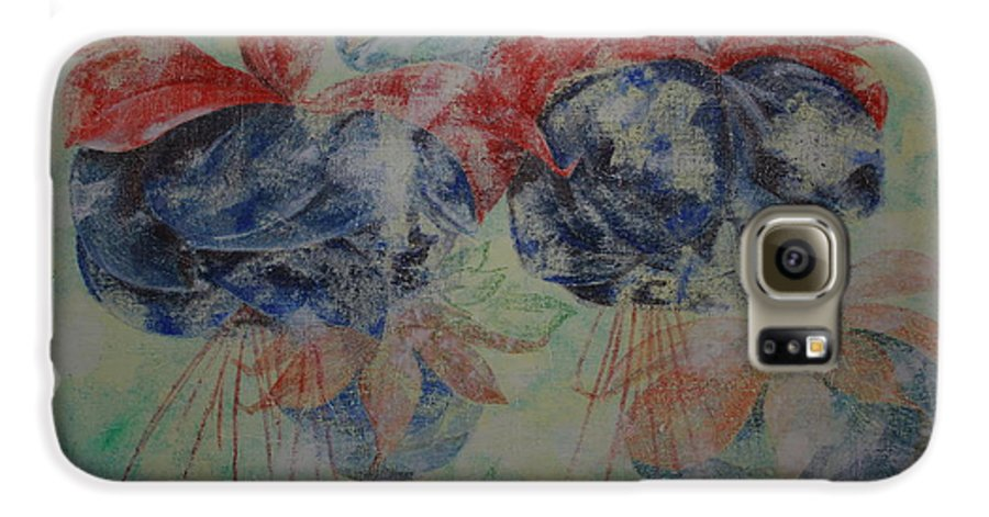 Flowers Galaxy S6 Case featuring the painting Romance 3 by Harri Spietz
