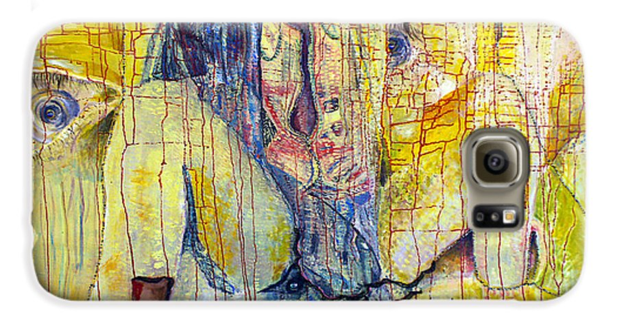 Portrait Galaxy S6 Case featuring the painting Roots by Peggy Blood