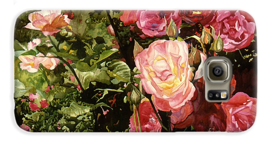 Watercolor Galaxy S6 Case featuring the painting Rose Garden by Teri Starkweather
