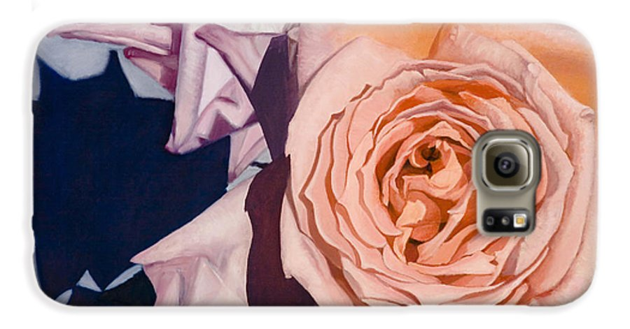 Roses Galaxy S6 Case featuring the painting Rose Splendour by Kerryn Madsen-Pietsch